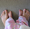 scapigliata: (feet)
