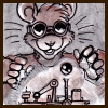 lilfluff: Pithani the student-librarian mouse from Mars Academy as a mad scientist. Drawn by Tod Wills (aka Djinni on LJ) (Mad Science Pithani)