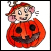 "lilfluff: A mouse kid peeking out of a Jack'o'Lantern (Icon by:<a href=""http://djinni.livejourn)"