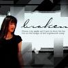 "chez_desouza: Icon of Christina, white and grey tones, caption ""broken"". (broken/sad/contemplative)"
