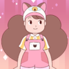 teacapes: This is a picture of Bee from the online cartoon Bee and Puppycat. (Bee and Puppycat)
