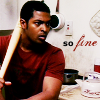 rose_griffes: Mickey Smith holding a bat (hey Mickey!)