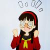 sunset_moth: Yukiko with her nerd glasses (Nerdgasm)