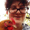 ljacob: person holding a chicken (Default)