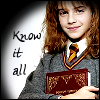 kerravonsen: Hermione with book: know-it-all (know-it-all)