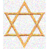 amadi: A stylized gold Star of David (Magen David)