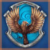 shyfoxling: Ravenclaw eagle in front of a shield with blue background (ravenclaw (pottermore))