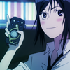 effingunicorns: a dark-haired young man blushing happily and holding up an audio recorder (let's find out!)