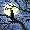 gairid: Cat & Moon (Seasonal - Autumn Cat & Moon)