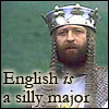 tehkittykat: king arthur from monty python's holy grail (python; english is a silly major)