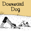 pensnest: cartoon of human and dog in Downward Facing Dog pose (Downward Dog)