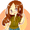 peppertsuki: It's me in a green shirt with a pencil! (greenie)