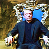 evilawyer: Patrick McGoohan as the Prisone sitting on throne (Prisoner: Throne)