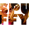 """useyourlove: the word """"SPUFFY"""" with a photograph of Spike and Buffy from Buffy the Vampire Slayer within the letters ({buffy} spuffy)"""