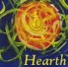 cereus: Abstract picture of the sun as a fire with the word Hearth (hearth)