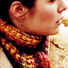ninamazing: Close-up of Jaye from Wonderfalls, in her red and gold autumn scarf. (surrender to destiny)
