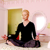 ninamazing: Lindsay from Arrested Development, cross-legged on her bed and centering herself before a two-hour angry nap. (centering my chi, yoga)