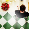 ninamazing: Screencap of Pushing Daisies:  From above, watching Ned make pies. Mmm. (the piemaker:  he makes pies.)