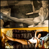 ninamazing: Jungle Julia from Death Proof, smoking underneath her photo of Marilyn Monroe (?) smoking in the same pose. (legs for days and loves a good smoke)
