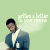 "ninamazing: Hardison from Leverage, writing in a pad as he impersonates a FAA official. ""I will write a letter to yo momma!"" (hardison will write a letter to yo momma)"