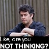 "rosefox: A man looks incredulous, with the text ""Like, are you NOT THINKING?"". (foolishness, not thinking)"