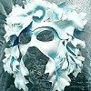 pocketmouse: White decorative mask (winter_mask)
