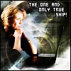 ct: SG-1: Sam and a laptop. Text: The one and only true ship! (SG1: sam otp)