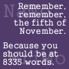 green_dreams: Reminder to keep on track for National Novel Writing Month. (5th November Nanowrimo)