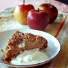 sholio: slice of pie with ice cream and apples (Autumn-apple pie)