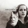 kerravonsen: Severus Snape silhuetted inside the image of Hermione Granger: secrets (SSHG-secrets, secrets)