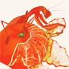 wepon: orange mantis sitting on a partially-peeled orange, holding part of the peel in its forelegs (orange mantis)