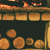 lireavue: Wood-burning fire. (home and hearth)