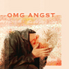lokifan: Spike crying with 'OMG ANGST' text (Spike: angst)