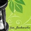 china_shop: Green background with swirls and the edge of an hourglass (fan_flashworks green shoots)