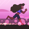 aquamirage: Stevonnie running down the beach (we don't dive we cannonball)