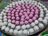 lloll4: white and pink tangyuan, uncooked (tangyuan, food)