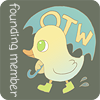 lucyp: Cartoon picture of a duck wearing wellies and holding an umbrella, with text 'OTW Founding Member' (OTW: Founding member) (Default)