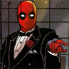spindizzy: A picture of Deadpool in mask and tuxedo, shrugging. (Fourth wall? What fourth wall?)