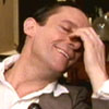 spindizzy: Sherlock Holmes as played by Jeremy Brett, laughing with a hand covering his face. (You do make me laugh)