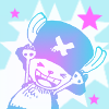 naye: tiny raindeer in a hat making happy arms and grinning (chopper - yay)