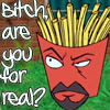 av8rmike: Aqua Teen's Frylock, text: Bitch, are you for real? (frylock-forreal)