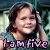 james: a picture of me when I was five years old with caption I am five (five)