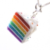 rosefox: A necklace that looks like a piece of rainbow layer cake (me and xtina)