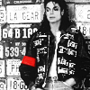 omnipotent: Michael Jackson against a background of license plates (Around the world)