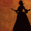 such_heights: silhouette of eliza hamilton from the broadway musical (h: eliza [shadow])