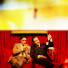 walkingshadow: charles and erik in the champagne room (everything looks perfect from far away)