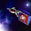 juniperphoenix: Amy floats in space, anchored by the Doctor (DW: the wonder of it all (baby))