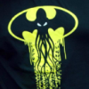 rising: a batman-style projection of cthulu into the sky. ia ia. (the cadre: cthulu batman)