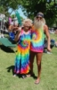 aunthippie: old hippies in tie dye (kawaii)