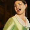 metonymy: Phillipa Soo as Eliza Hamilton, smiling. (afp: shocked)